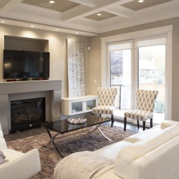 Custom Built Home living room interior design michele cheung vancouver indesigns